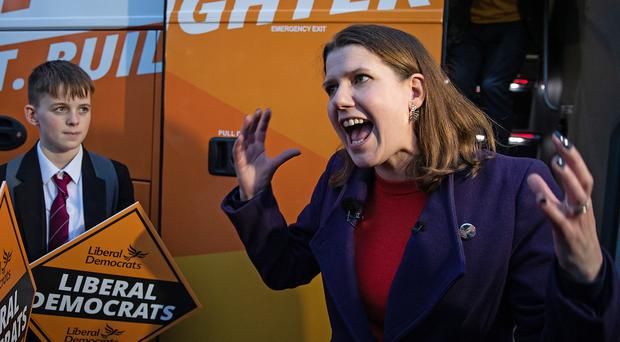Liberal Democrat leader Jo Swinson went to court to challenge an SNP leaflet in the East Dunbartonshire constituency where she is standing (Aaron Chown/PA)
