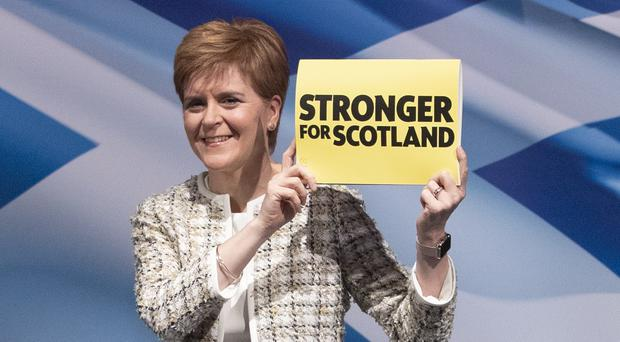 First Minister Nicola Sturgeon will be speaking in St Andrews (Jane Barlow/PA)
