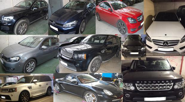 A selection of the vehicles stolen by Chirag Patel (Scotland Yard/PA)