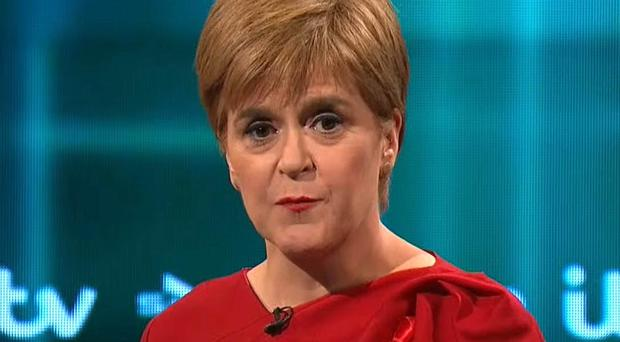 Nicola Sturgeon has refused to rule out taking legal action if Boris Johnson continues to block a second vote on Scottish independence. (ITV/PA)