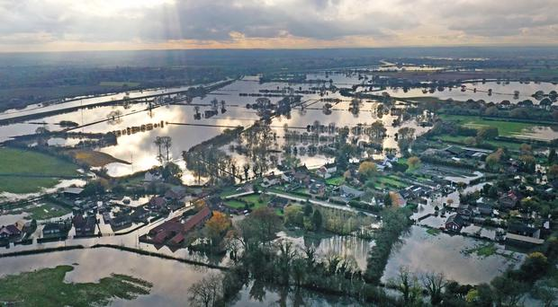 Flood water at Fishlake in Doncaster in early November 2019 (Richard McCarthy/PA)