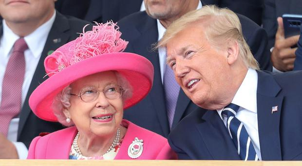 The Queen is hosting US President Donald Trump at a reception for Nato leaders (Chris Jackson/PA)