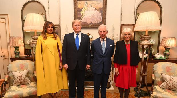 The Prince of Wales and the Duchess of Cornwall meets US President Donald Trump and wife Melania at Clarence House (Victoria Jones/PA)