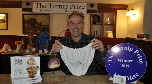 The winner of the Turnip Prize 2019 (Trevor Prideux/PA)