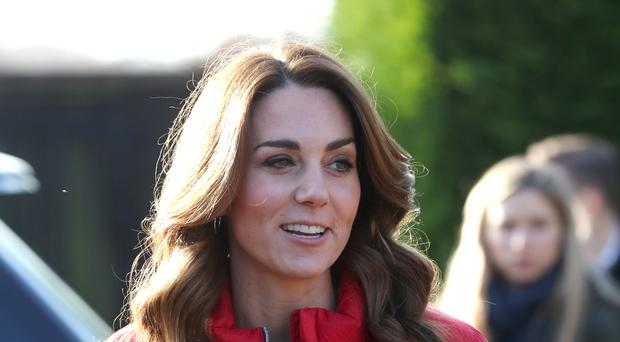 The Duchess of Cambridge during a visit to Peterley Manor Farm in Buckinghamshire as her new patronage of Family Action was announced (Jonathan Brady/PA)