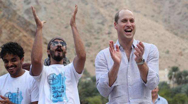 Mohammed al Zadjali, head of operations for Outward Bound Oman, praised William's ability to 'bring people together' (Andrew Matthews/PA)