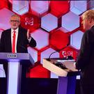 Jeremy Corbyn and Boris Johnson go head-to- head in the BBC election debate (Jeff Overs/BBC/PA)