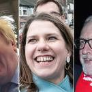 Boris Johnson, Jo Swinson and Jeremy Corbyn (Stefan Rousseau/Danny Lawson/Joe Giddens/PA)