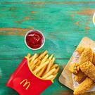 McDonald's first fully vegan meal, including its new Veggie Dippers.(McDonald's/PA)