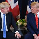 Prime Minister Boris Johnson (left) meets US President Donald Trump (Stefan Rousseau/PA)