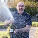 Terry Falgate celebrating his £1 million win on the UK EuroMillions Millionaire Maker at The Garden Room, Coltishall, Norfolk (Chris Ratcliffe/Camelot/PA)