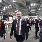 Ian Murray arrives for the Edinburgh count at the Royal Highland Centre (Lesley Martin/PA)