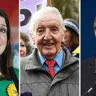 Lib Dem leader Jo Swinson (left), DUP deputy leader Nigel Dodds (right) and Labour's Dennis Skinner (PA)