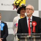 Jeremy Corbyn speaks following the count at his Islington North constituency (Joe Giddens/PA)