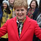 Nicola Sturgeon has told the PM it would be 'completely and utterly wrong' to continue to refuse a second vote on independence (Andrew Milligan/PA)
