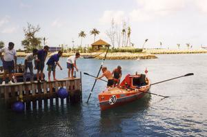 The boat was used in the first ever Atlantic rowing competition in 1997 (Help for Heroes/PA)