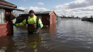 Flooding in East Cowick, Yorkshire (Owen Humphreys/PA)