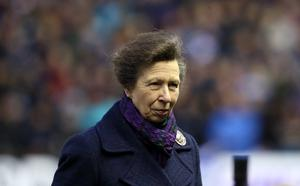 Anne, pictured during a Six Nations match at the home of Scottish rugby, Murrayfield Stadium in Edinburgh, is patron of Scottish rugby's governing body. Andrew Milligan/PA Wire