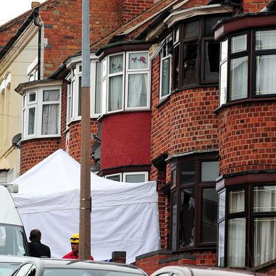 Police have said they cannot rule out a house fire in Leicester being linked to the murder of a man nearby (Rui Vieira/PA)