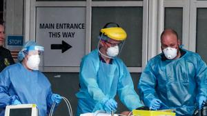 Ministers are under fire over shortages of protective equipment for NHS staff (Peter Byrne/PA)