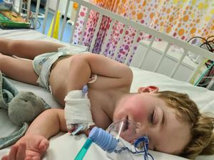 The two-year-old is due to have an operation next week (Family handout/PA)
