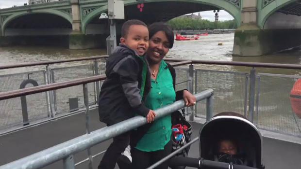 Genet Shawo with her son, Isaac Paulson (Grenfell Tower inquiry/PA)