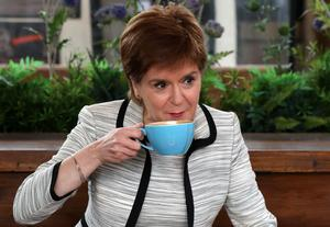 First Minister Nicola Sturgeon enjoyed a coffee in Edinburgh as outdoor cafes reopened earlier this week (Andrew Milligan/PA)