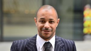 Ben Fellows arrives at the Old Bailey in London, where he is accused of perverting the course of justice by making a false statement that a public figure sexually assaulted him