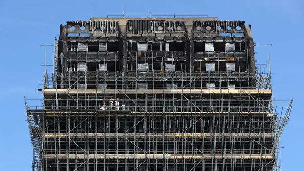 A view of Grenfell Tower in west London. (Jonathan Brady/PA)