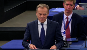 European Council president Donald Tusk addressed the European Parliament in Strasbourg (European Commission Audiovisual Services/PA Images)