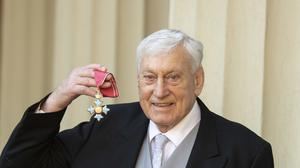 Willie John McBride with his CBE for services to rugby (Victoria Jones/PA)