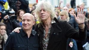 Midge Ure (left) and Bob Geldof organised the Band Aid 30 single, which has moved to the top of the charts