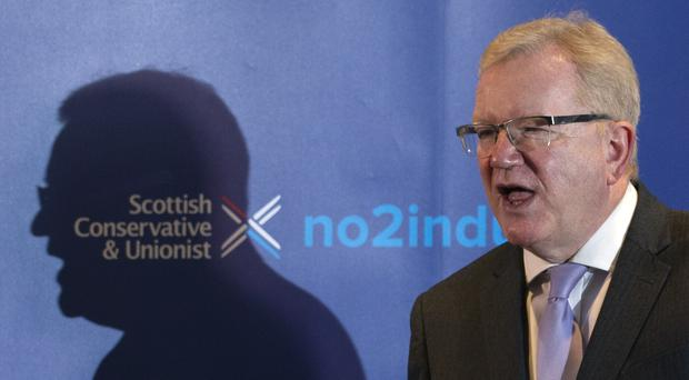 Jackson Carlaw refuses to say for the moment if he will run for the post of Scottish Conservative leader on a permanent basis (Jane Barlow/PA)