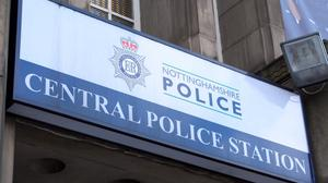 A seven-year-old girl was injured during a visit to Nottingham Police HQ when a gun was accidentally fired