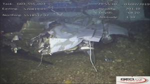 The wreckage of the plane (AAIB/PA)