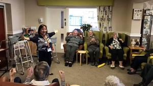 Care home residents in an exercise class, at Kepplegate Residential care home in Preesall, Lancashire (Sam McAughey/Kepplegate Ltd/PA)