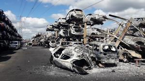 The aftermath of the blaze at Carcroft, near Doncaster (South Yorkshire Fire and Rescue Service/PA)