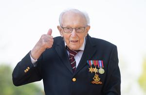 Captain Tom Moore is to be knighted for his fundraising efforts (Joe Giddens/PA)