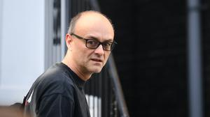 Prime Minister Boris Johnson's top aide Dominic Cummings leaves his north London home as the row over his trip to Durham during lockdown continues (Victoria Jones/PA)