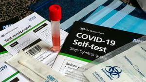 Fewer than one in 10 people got a test result within 24 hours of taking a home test (Peter Byrne/PA)