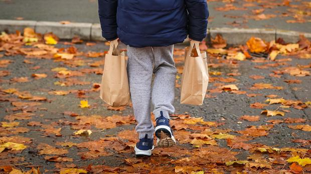School staff have been handing out clothes, food and furnishings to families who have been struggling financially amid the pandemic, teachers have said (Peter Byrne/PA)