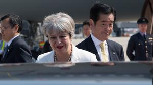 Theresa May has called on China to act over missile tests by North Korea (Stefan Rousseau/PA)