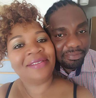 Charles Kwame Tanor, 39, and partner Prudence King.