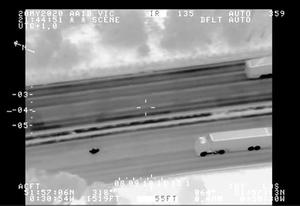 Screengrab from police helicopter footage of Dragoi during the police chase last year (Metropolitan Police/PA)