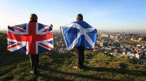 A poll has found 61% of respondents would vote for Scotland to remain in the UK (David Cheskin/PA)