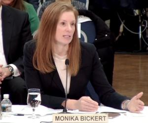 Facebook's Monika Bickert giving evidence to MPs (www.parliamentlive.tv/PA)