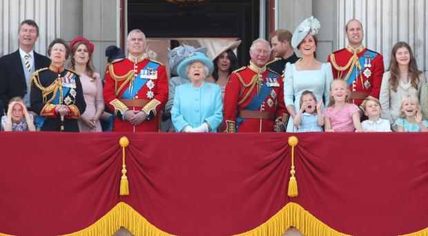The royal family on the balcony for Trooping the Colour 2018 (Yui Mok/PA)