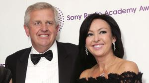 Colin Montgomerie with his wife Gaynor Knowles