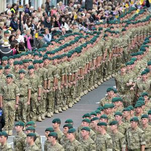 Family members of the troops paid tribute to those that had lost their lives in Afghanistan