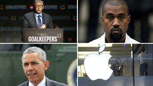 Bill Gates, Kanye West, Barack Obama and Apple were among the accounts affected by a Twitter hack on Wednesday (Greg Allen/Jonathan Brady/Chris Radburn/Brian Lawless/PA)